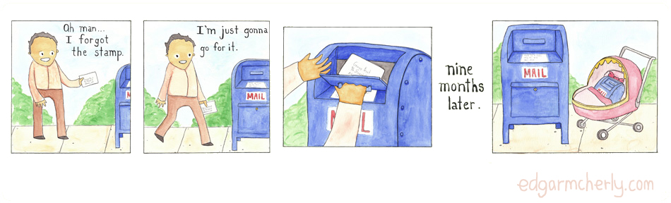 safe mailing practices comic